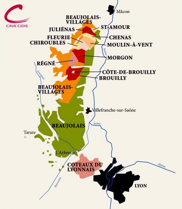 Carte geo beaujolais 1