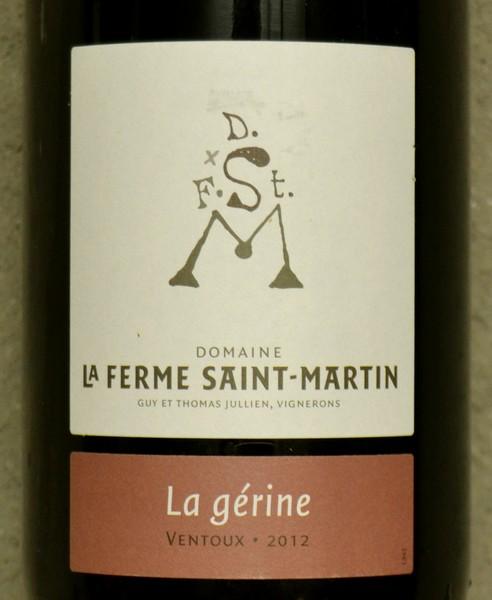 Domaine de la Ferme de Saint Martin Cotes du Ventoux