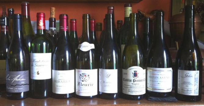 Photo groupe de bouteilles